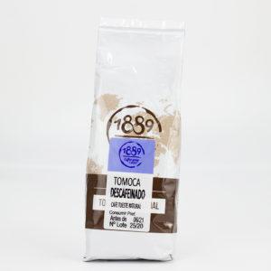 Café descafeinado con tostado natural en grano